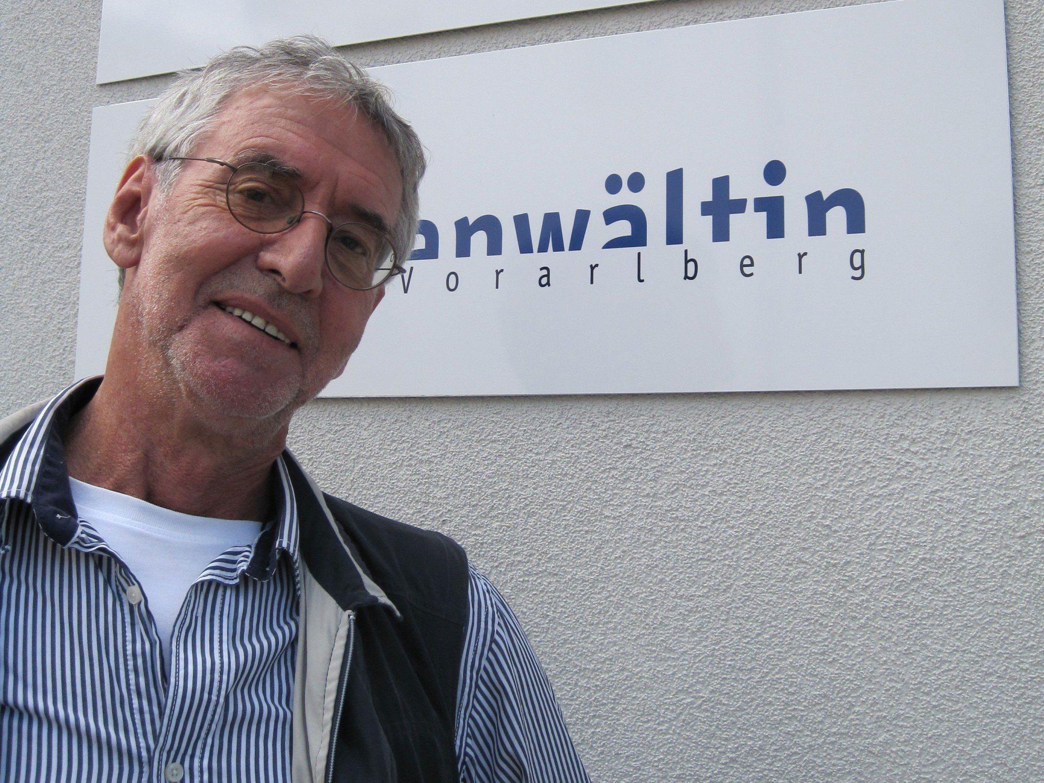 Ärger wegen Schwarzfahrt: Fidelis Josef Staggl (74).