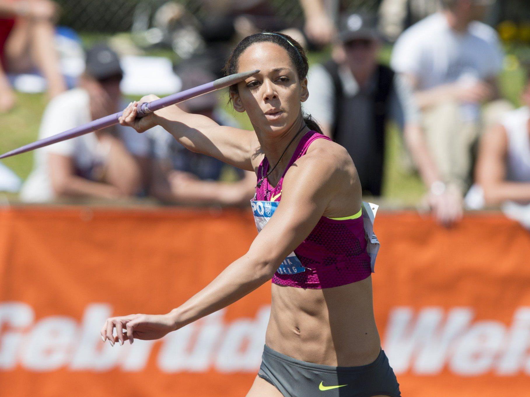 Katarina Johnson-Thompson gewann überlegen vor Titelverteidigerin Brianne Theisen-Eaton.