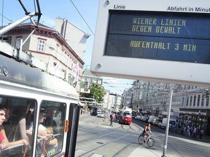 Drei Minuten standen am Freitagvormittag alle Öffis in Wien still.