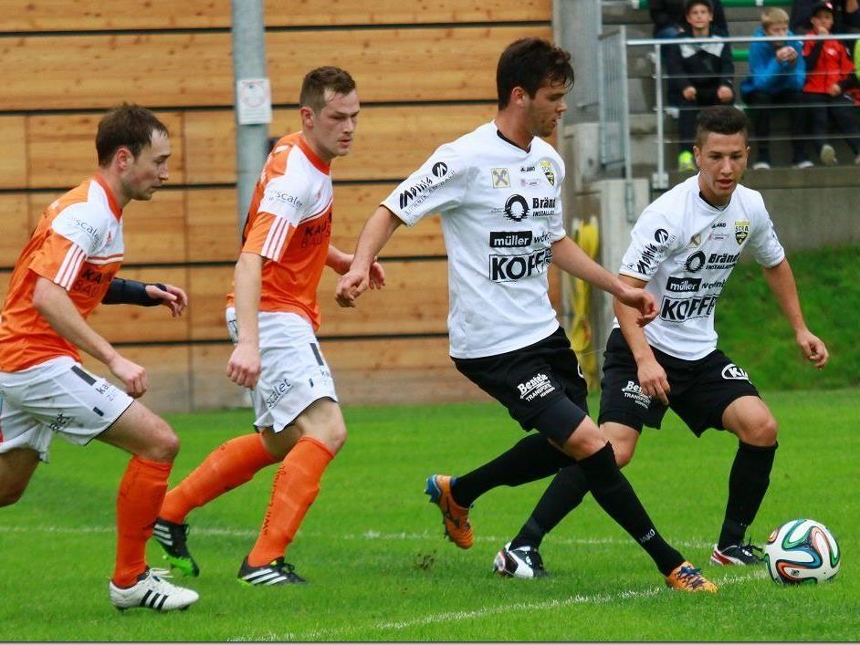 Altach Kaderspieler Rafinha traf zum 3:2 für die Rheindörfler und brachte den Favorit auf die Siegerstraße.