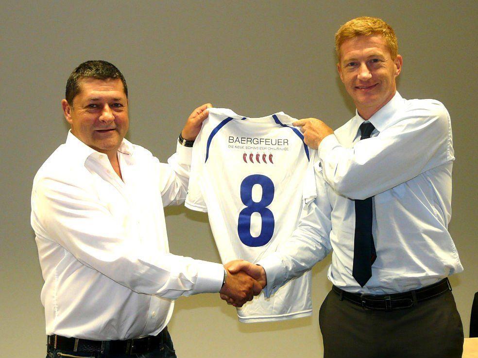 Stephan Marti und Reinhard Niederländer freuen sich auf die Zusammenarbeit.