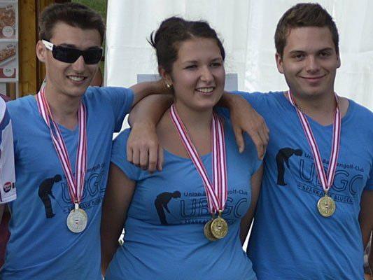 Das erfolgreiche Jugendteam der Bludenzer Bahnengolfer.