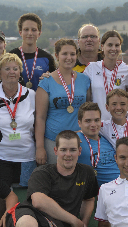 Das erfolgreiche Vorarlberger Bahnengolf-Team.