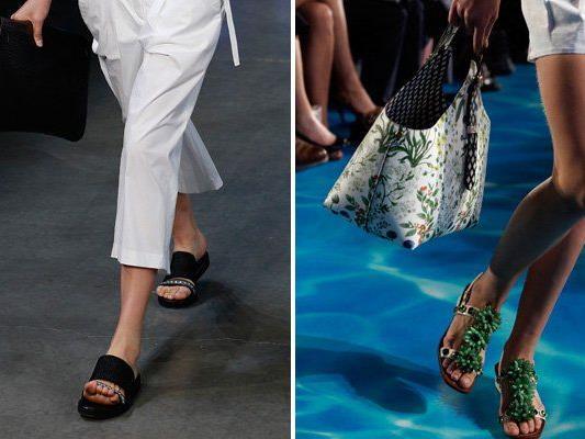Reinterpretationen des Birkenstocks auf der New York Fashionweek.