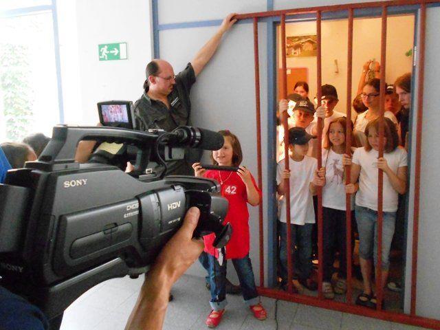 Dreharbeiten mit Kindern