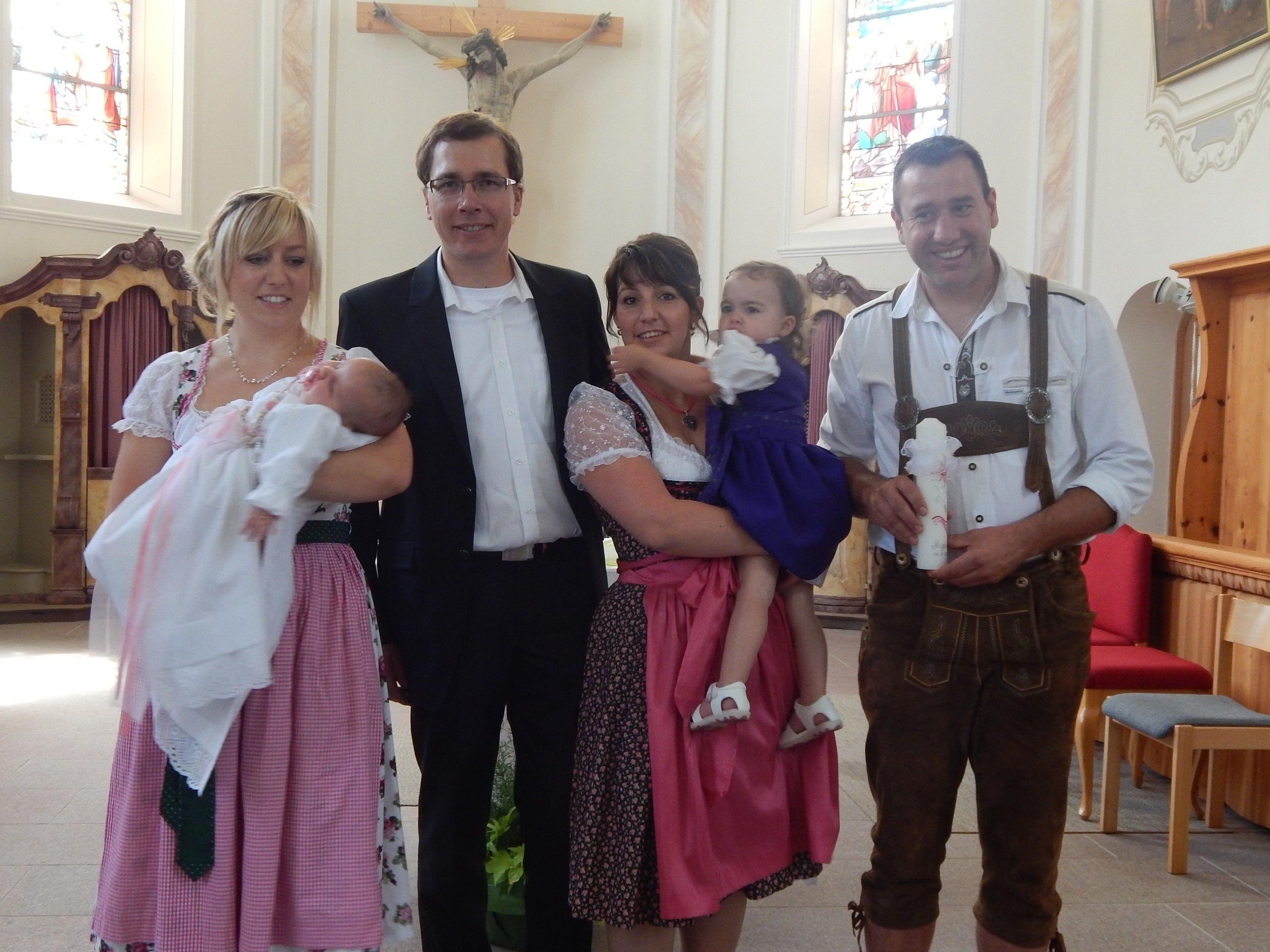 Taufe von Magdalena Küng aus Vandans.