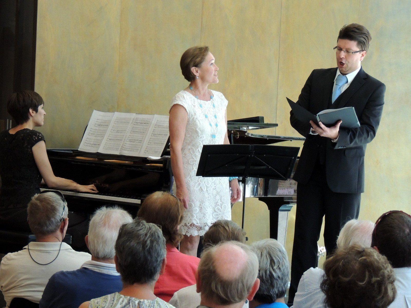 Birgit Plankel und Clemens Morgenthaler sangen Liebeslieder