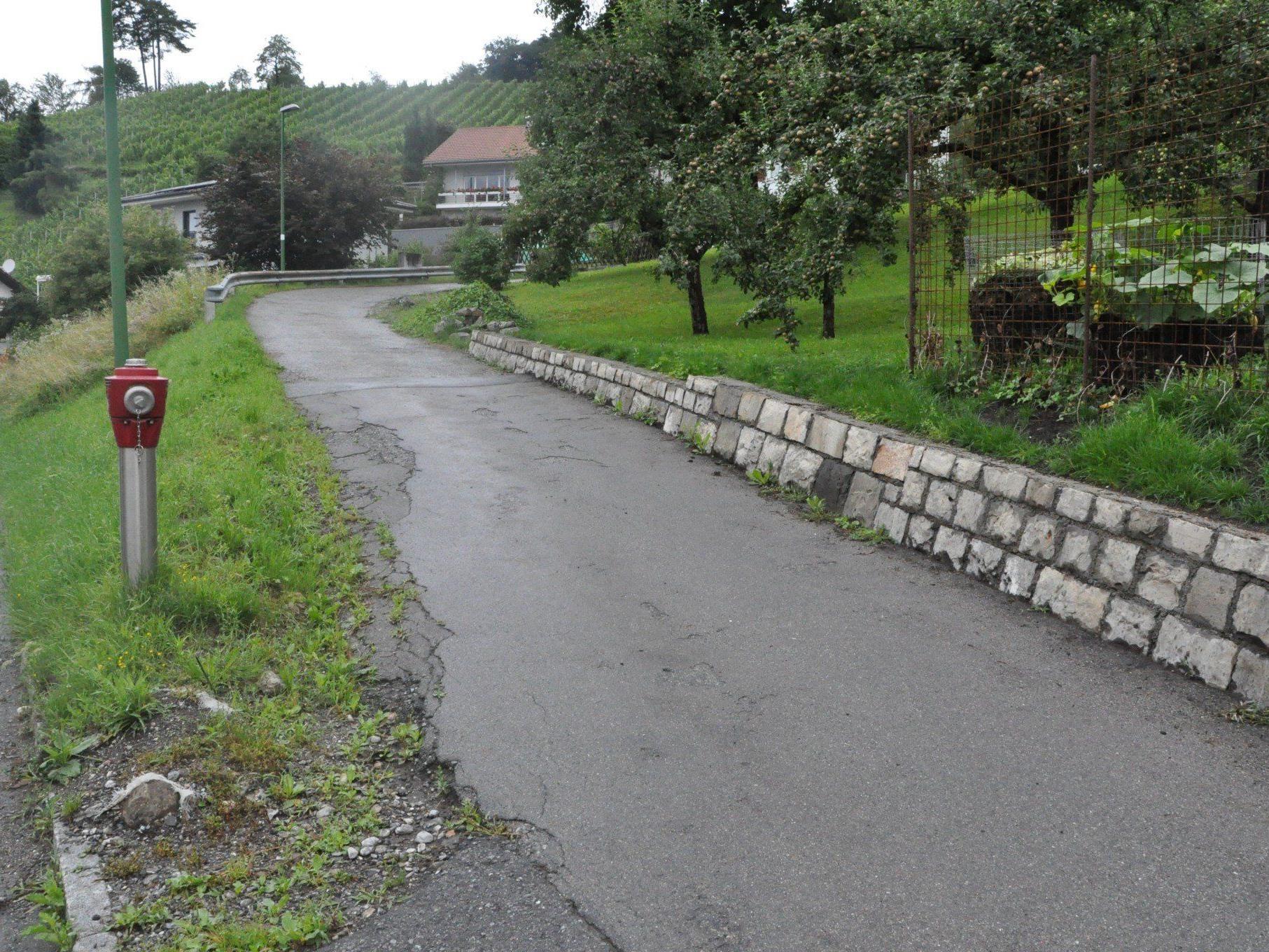Die Röslegasse als auch der Kanal muss dringend saniert werden.