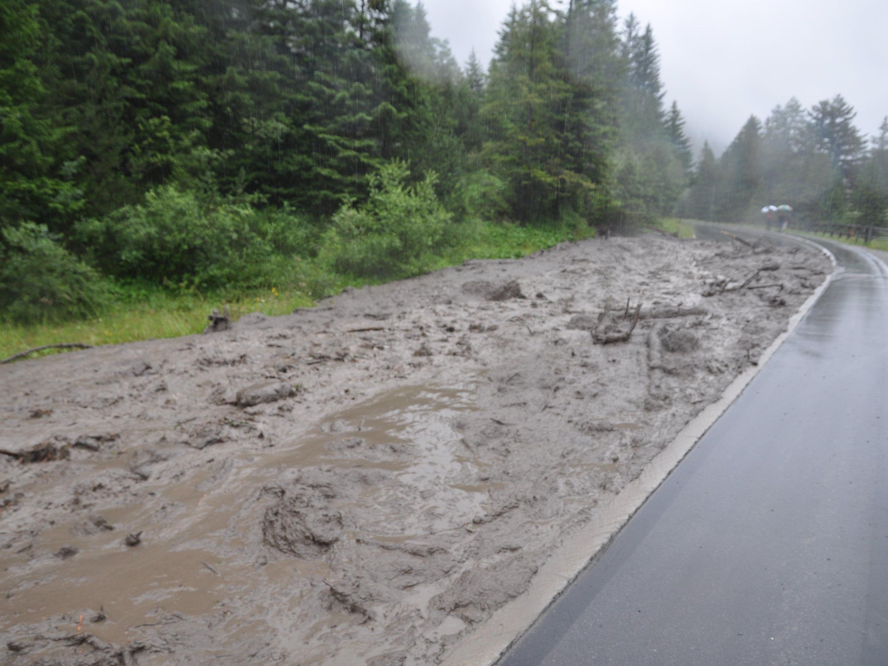 Die Straße nach Malbun war am Sonntag für mehrere Stunden gesperrt.