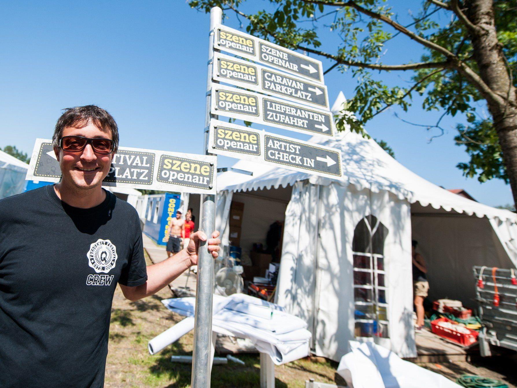 Veranstalter Hannes Hagen hofft wieder auf schönes Wetter beim Openair. Nächste Woche beginnen die Aufbauarbeiten. (Archivfoto)
