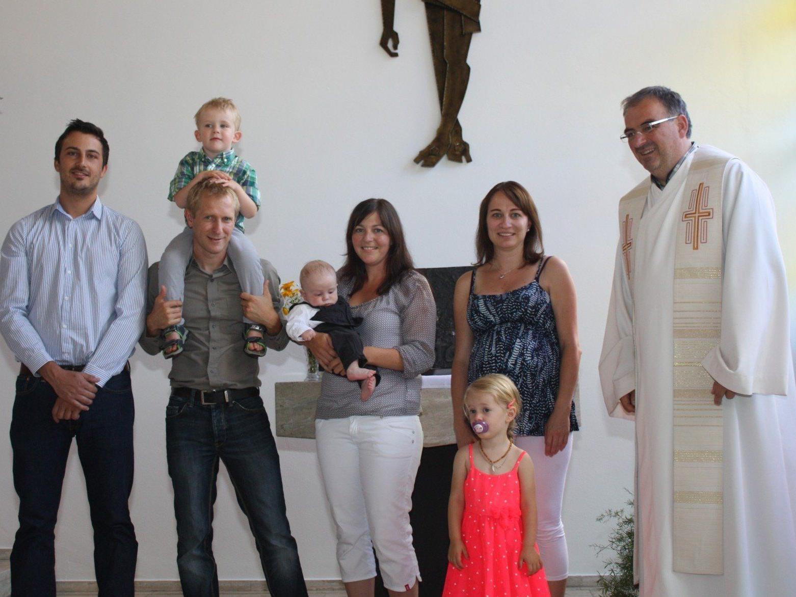 Taufe von David Loos in Gantschier.