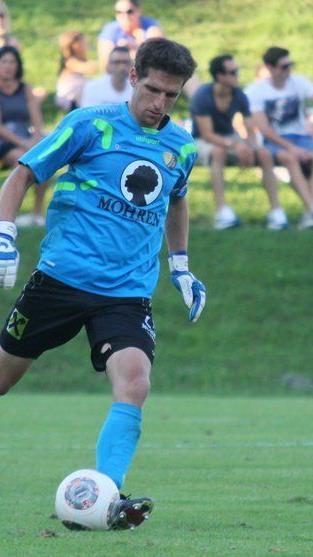 Viel Arbeit wartet auf Höchst Goalie Mathias Nagel im Pokalspiel gegen Mattersburg.