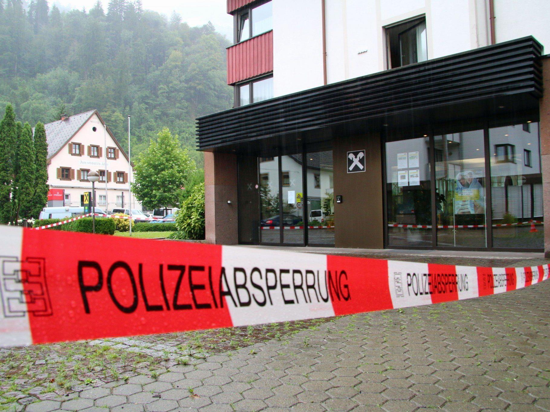 Nach Banküberfall in Nüziders: 58-Jähriger zeigt sich geständig.