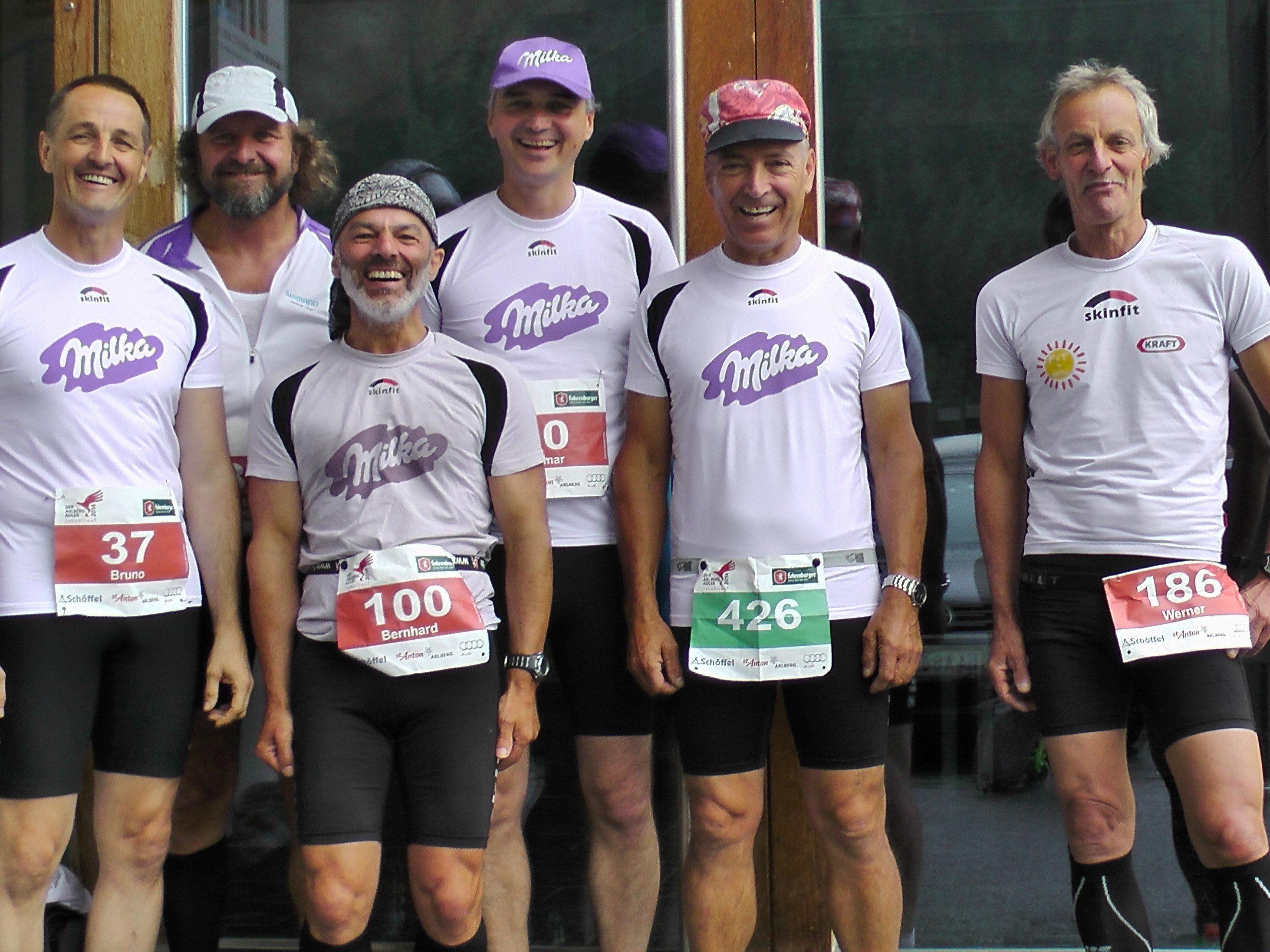 Alle Jahre wieder beim Jakobilauf - die Laufgruppe Milka.