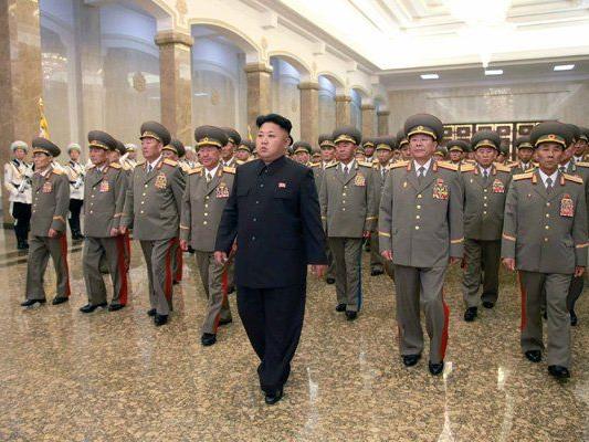 Kim Jong-un auf der Gedenkfeier für Staatsgründer Kim Il-sung.