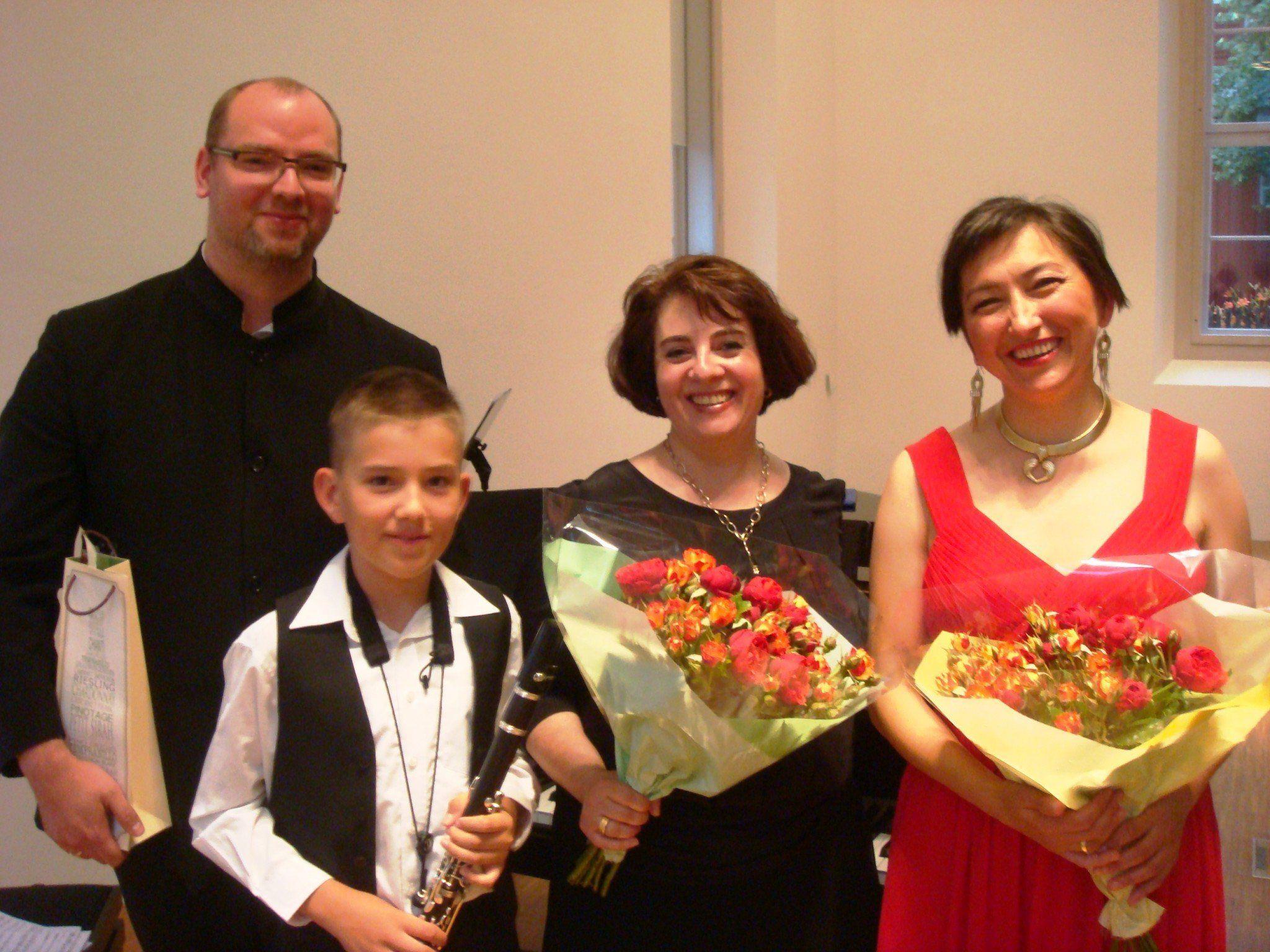 Martin Gallez, Alexander Svetnitsky, Elena Medwedeva-Büchel und Elena Svetnitskaya. Foto: Privat