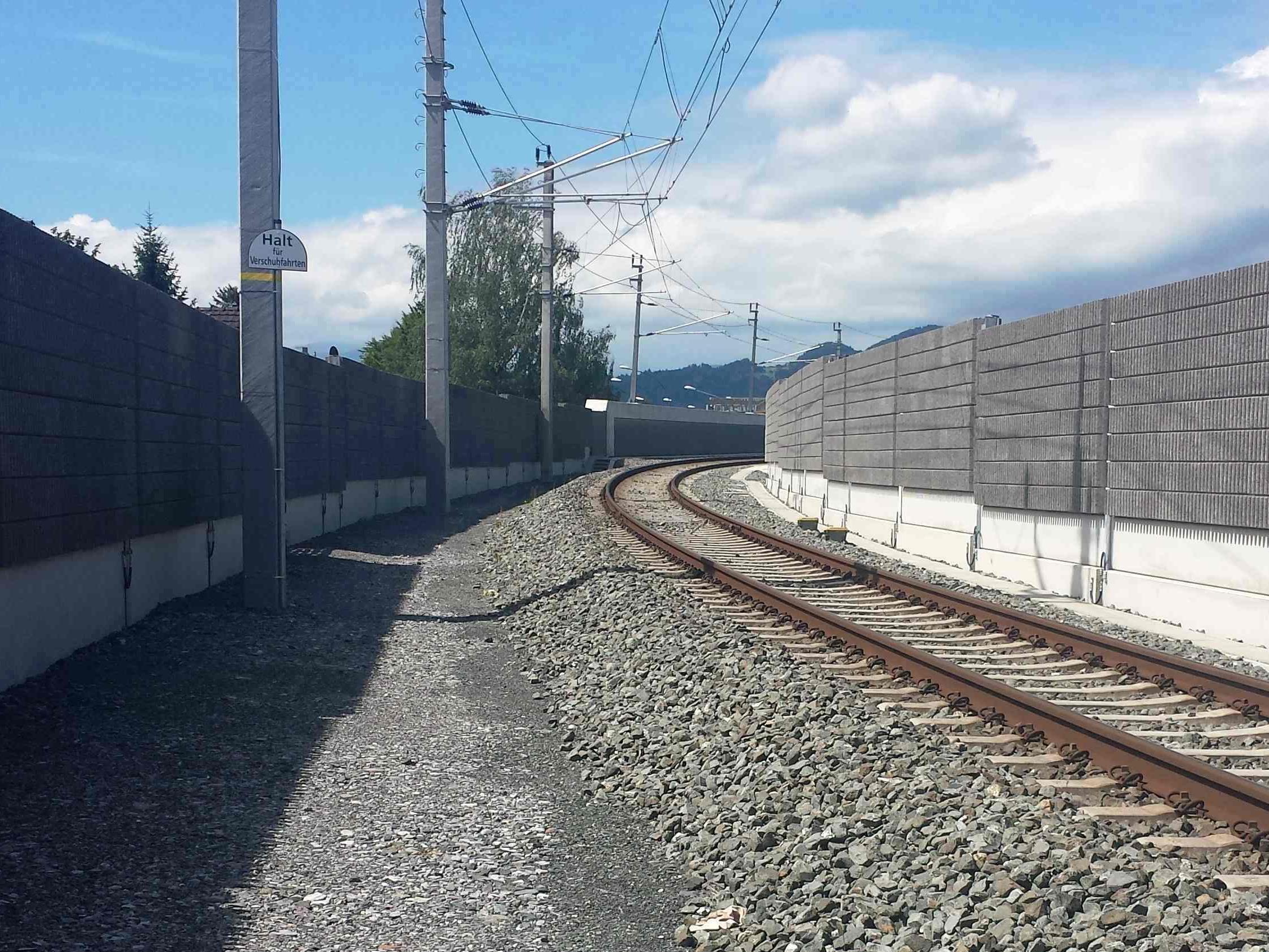 Im Bereich Lustenau wurden in den letzten Monaten rund 600 Meter Lärmschutz neu errichtet.