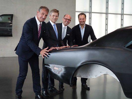 Markus Linhart, Josef Ostermayer, Michael Ritsch und Yilmiz Dziewior im KUB.