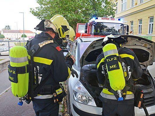 Beim Einsatz in Maria Enzersdorf