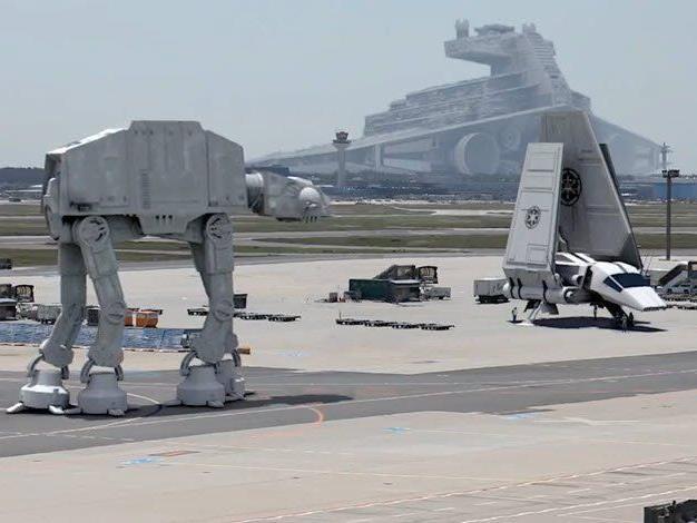 Truppen des Imperiums haben den Flughafen Frankfurt übernommen.
