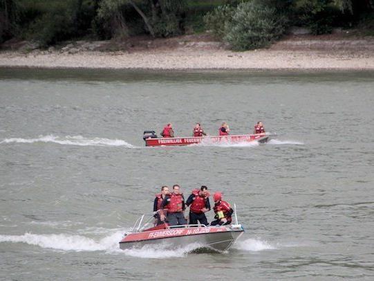 Bei der Suchaktion nach dem Vermissten auf der Donau