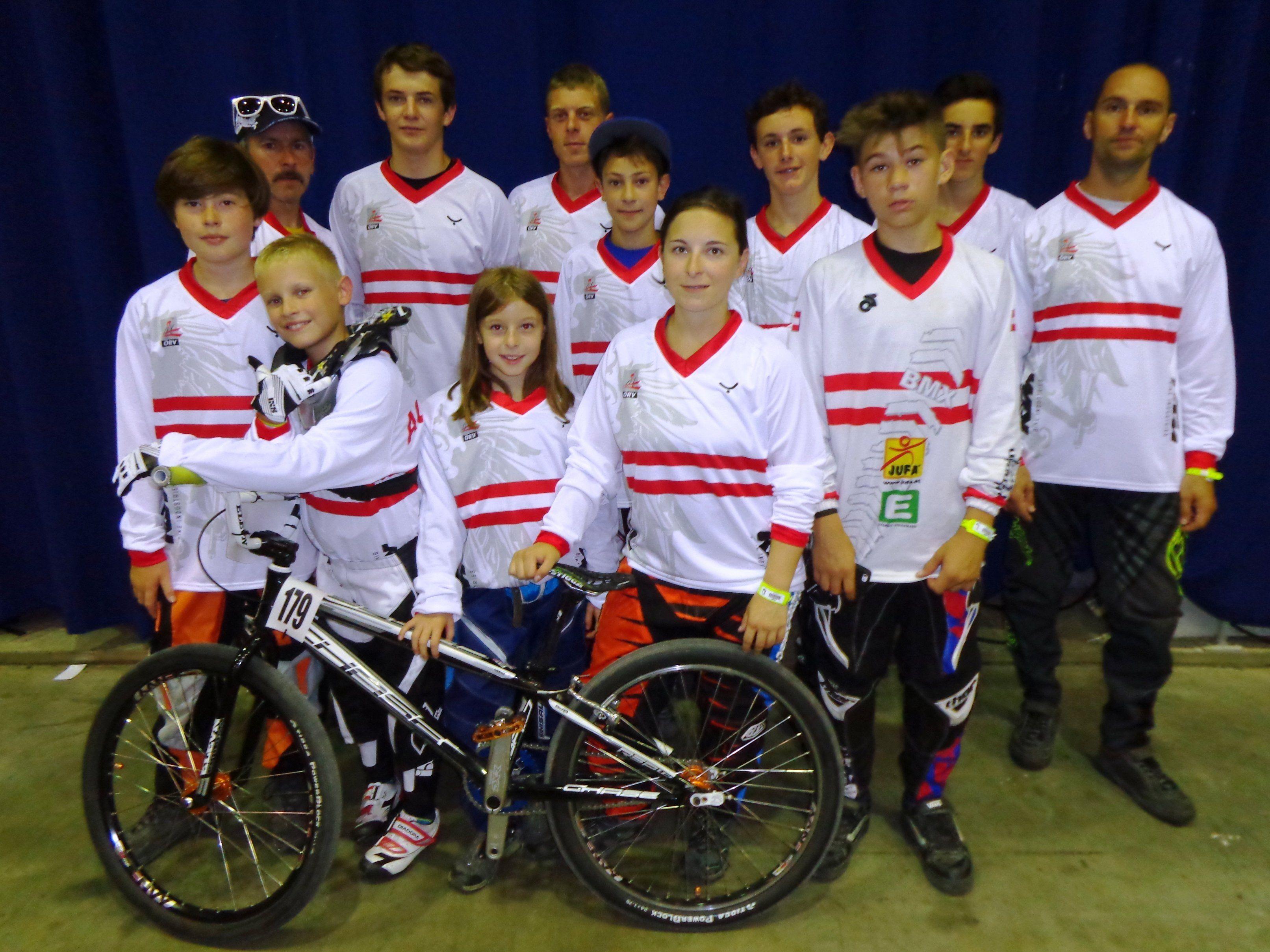 Das Bludenzer BMX-Team in Rotterdam.