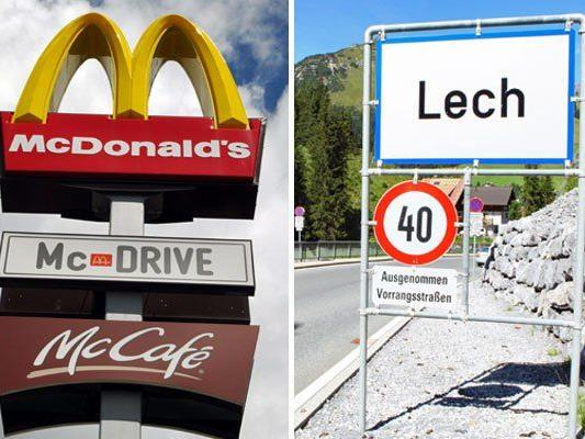 Obwohl Gerüchte darauf hindeuten, mit einem McDonald's sei in Lech nicht zu rechnen.