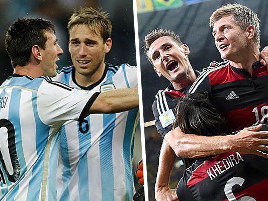Deutschland gegen Argentinien - Das WM-Finale 2014.