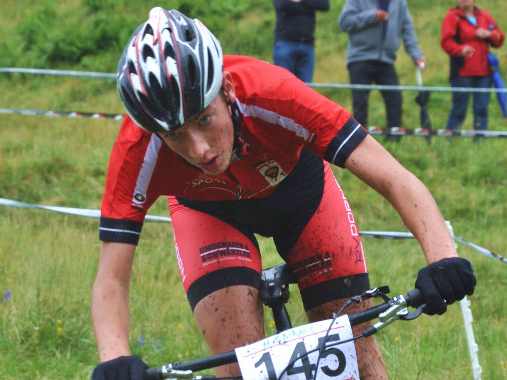 Hannes Wohlgenannt wurde U-17-Landesmeister im Mountainbike.