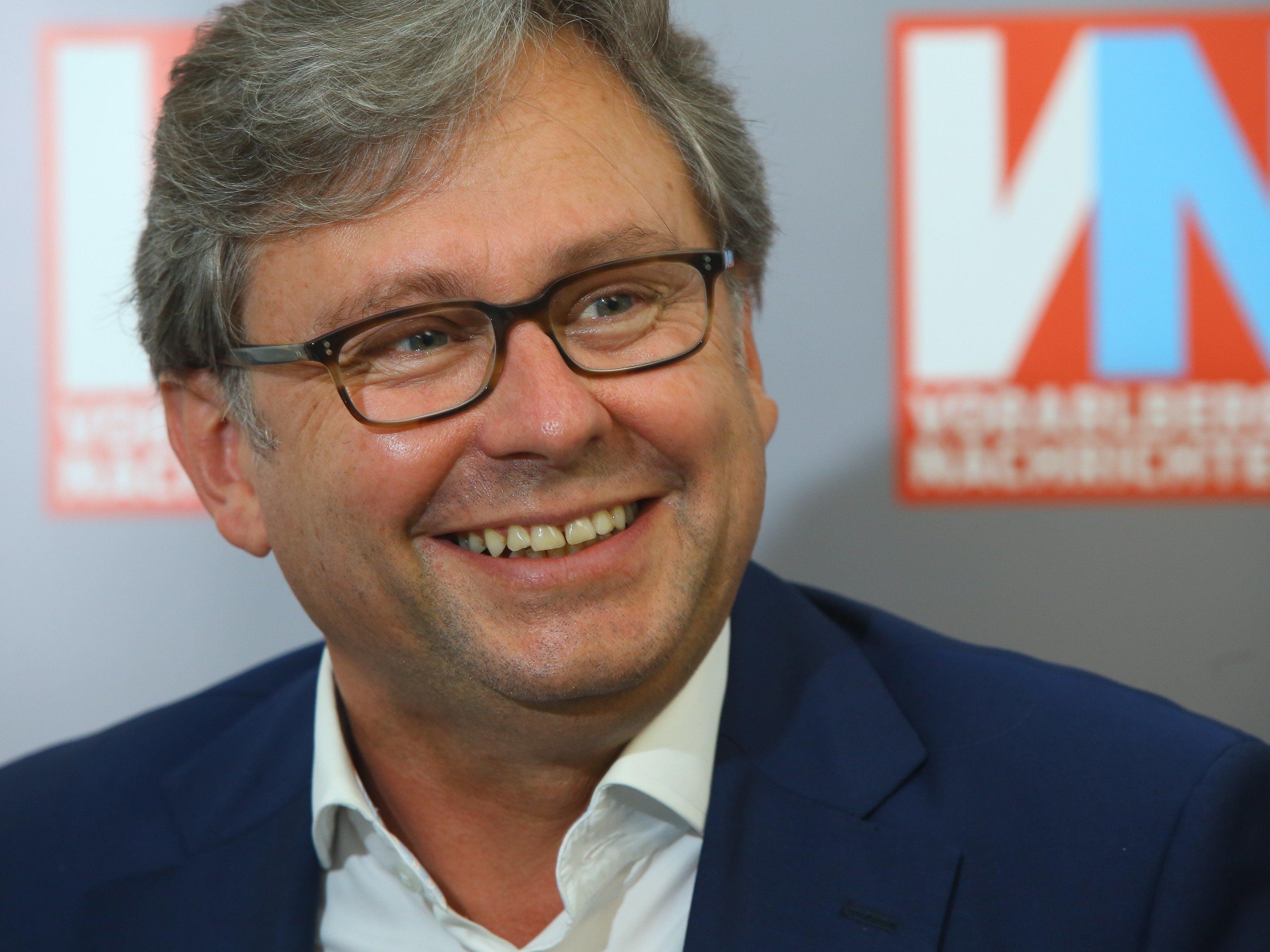 """""""Dornbirn könnte durchaus zum Modell für andere Landesstudios werden"""", so ORF Generaldirektor Alexander Wrabetz."""
