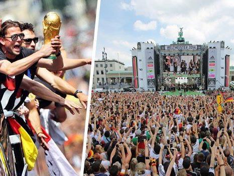 Fast eine halbe Million Menschen nahm die Weltmeister in Berlin in Empfang.
