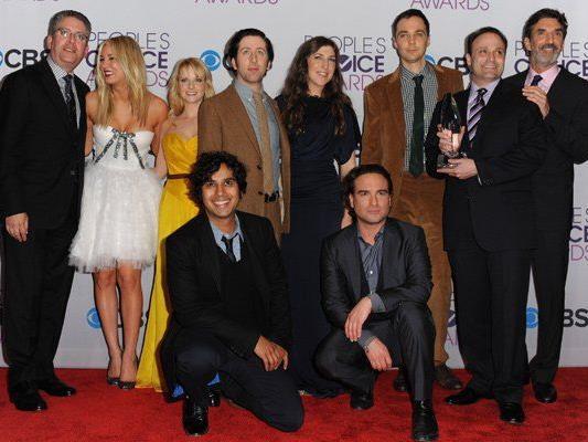 "Die Darsteller der Hit-Serie ""The Big Bang Theory"" bei den People's Choice Awards 2013."