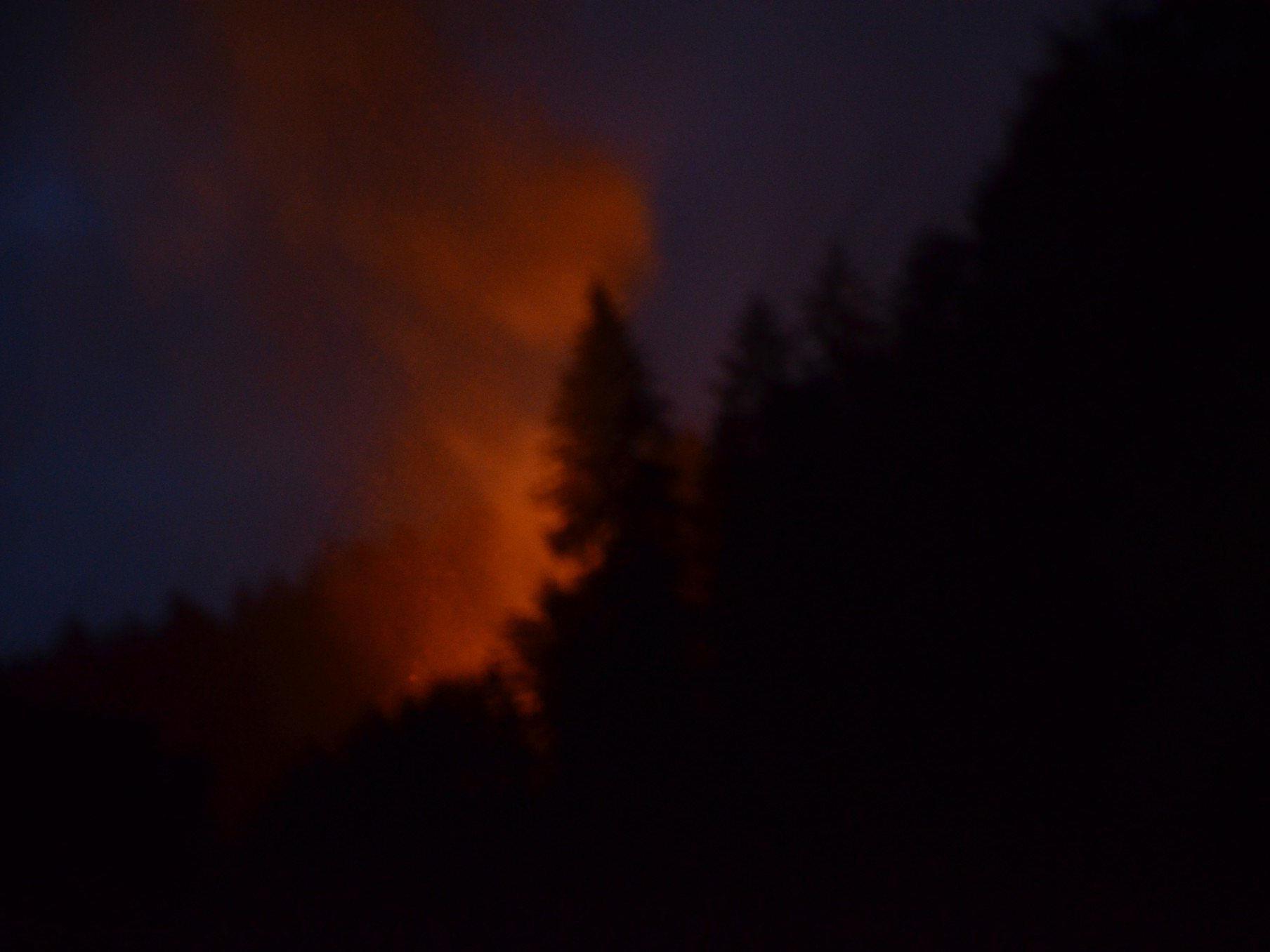 In Bezau ist ein unbewohntes einem Feuer zum Opfer gefallen.