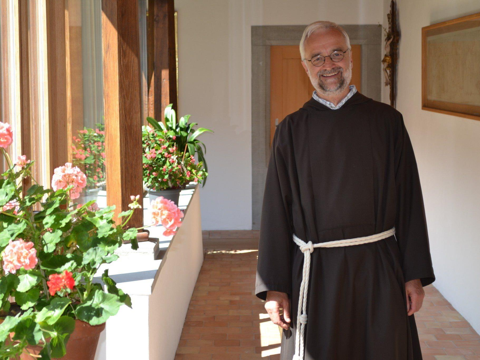Bruder Franz Ulbing, Guardian im Kapuzinerkloster Feldkirch, wird neuer Caritasseelsorger.