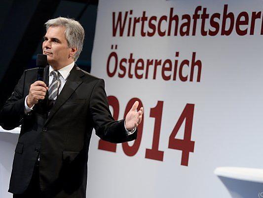 Der SPÖ-Chef forderte erneut eine Steuersenkung