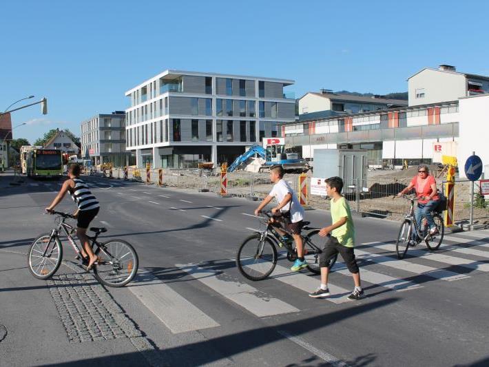 Der Montfortplatz in Lauterach wird bis zum Frühherbst komplett neu gestaltet.