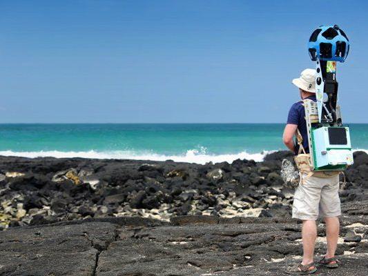 Mit dem Kamerarucksack können entlegene Gebiete erschlossen werden.