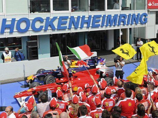 Der Hockenheimring beim Großen Preis von Deutschland 2010.