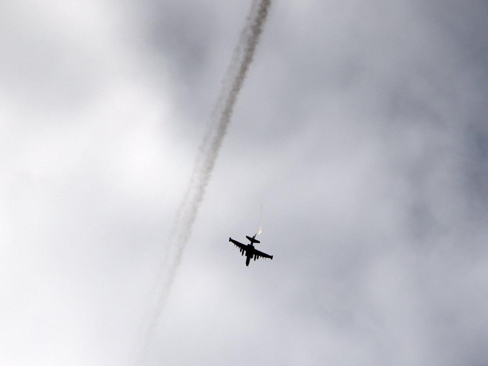 Russland soll einen Kampfjet der Ukraine abgeschossen haben.