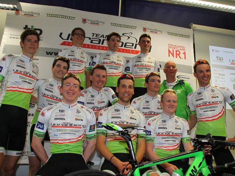 Acht Fahrer vom Team Vorarlberg hoffen auf eine gute Österreich Radrundfahrt.
