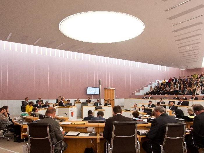 Abschiedsauftritt im Vorarlberger Landtag.