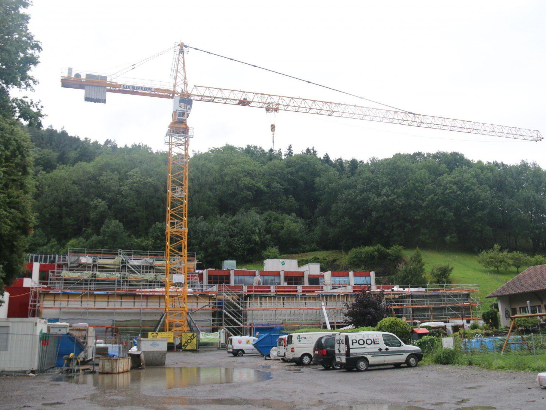 An der LBS Feldkirch läuft derzeit die dritte Bauetappe