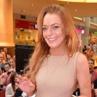 Skandalnudel Lindsay Lohan zu Besuch.