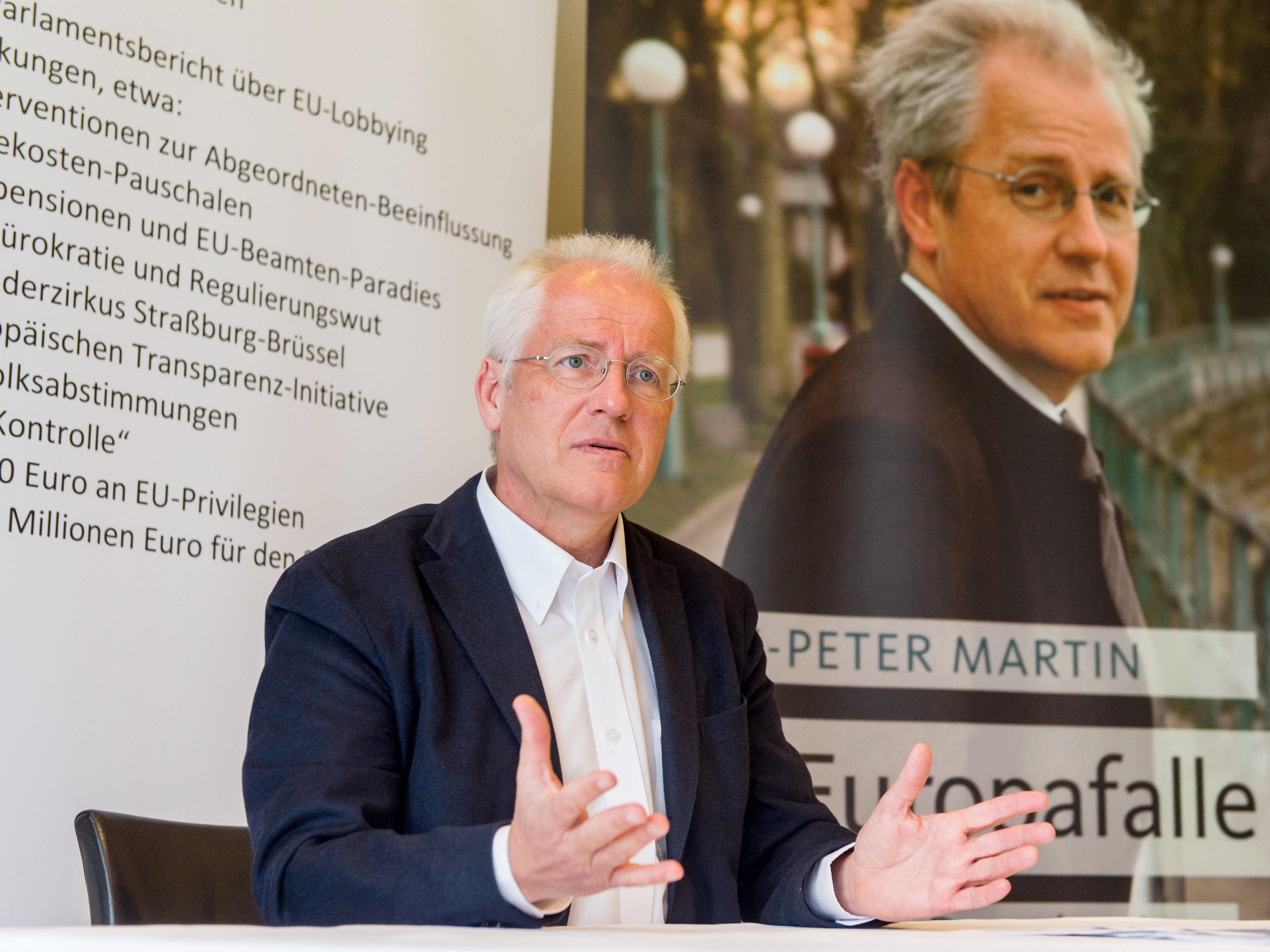 Ermittlungen gegen Hans Peter Martin - Vorhabensbericht liegt bei OSta Wien