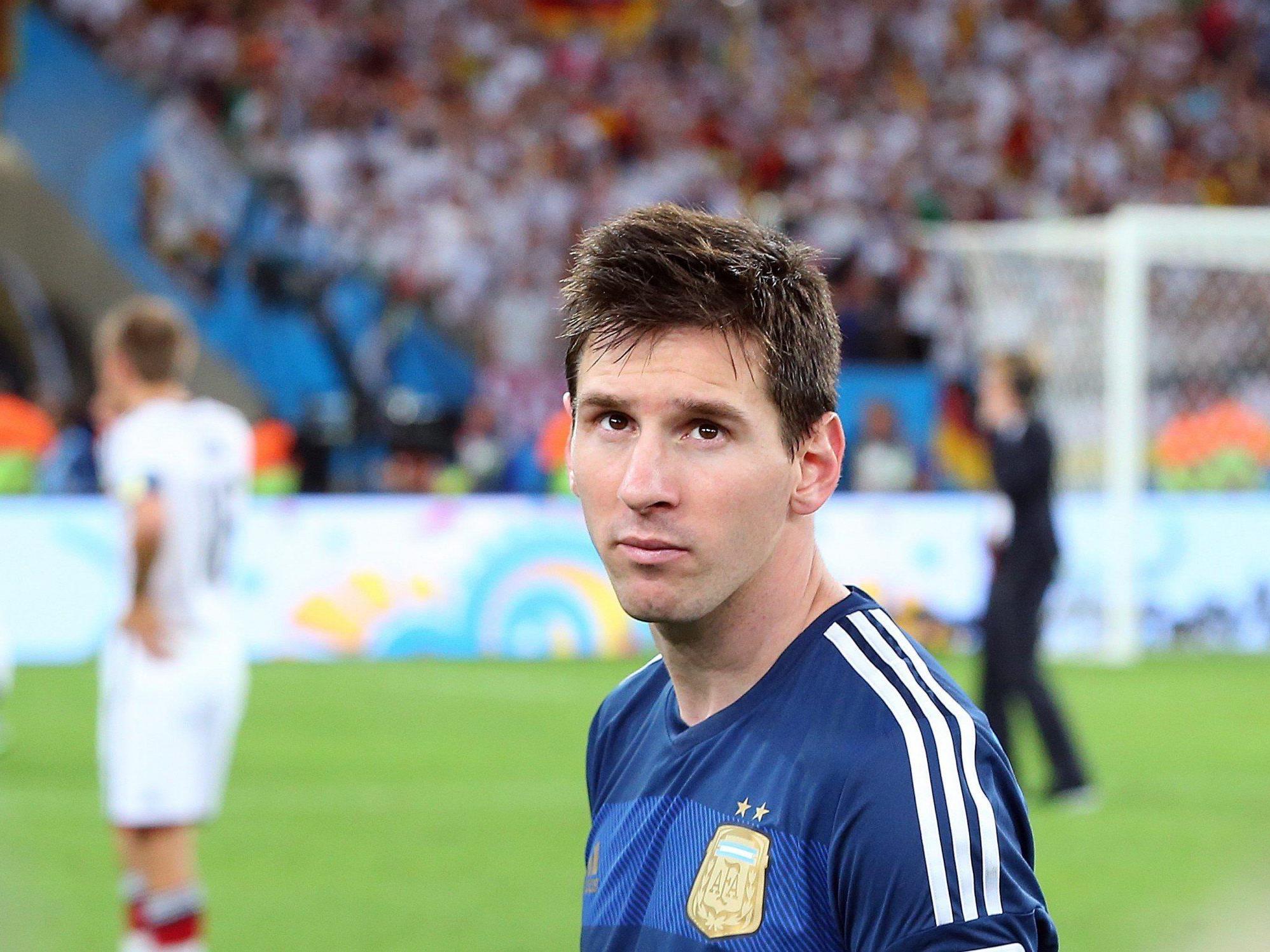 Die Auszeichnung als bester Spieler des Turniers war nach der Niederlage gegen Deutschland kein Trost für Messi.
