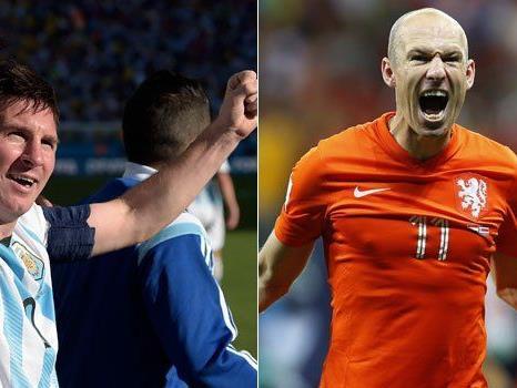 Messi und Robben präsentieren sich bei WM bislang in hervorragender Verfassung.