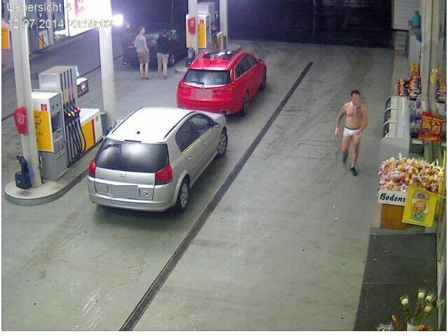 Dieses Bild wurde auf einer Lustenauer Tankstelle aufgenommen.