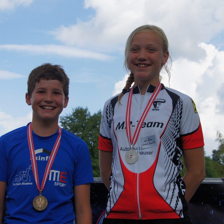 Der Bludenzer Jakob Meier und Theresa Hefel aus Dornbirn gewinnen Medaillen.