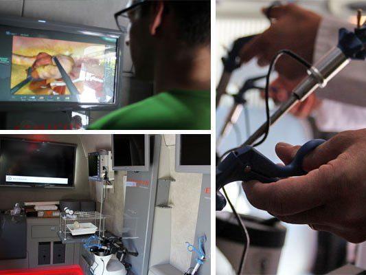 """Das """"ProfEd mobil"""" bietet Chirurgen die Möglichkeit, Operationen zu trainieren."""