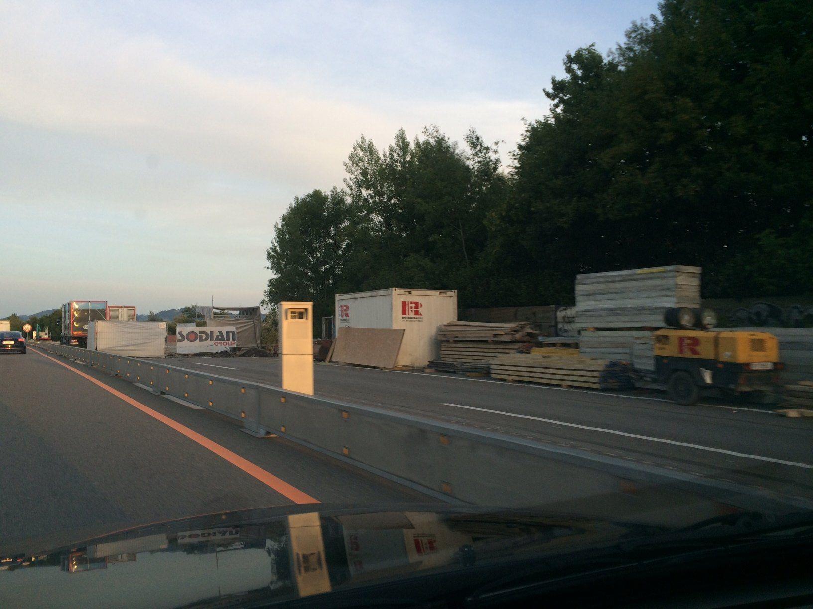 Neue Radarbox auf der A14 bei Wolfurt.